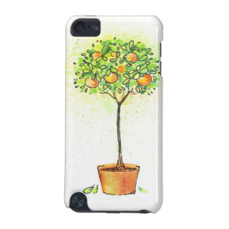 Painted watercolor citrus tree in pot iPod touch (5th generation) cover