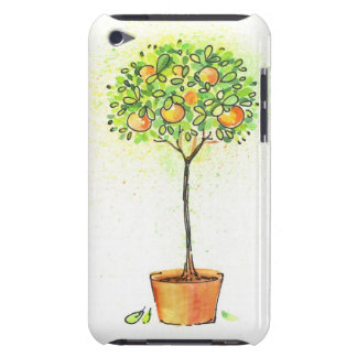 Painted watercolor citrus tree in pot iPod touch case