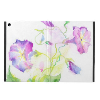 Painted watercolor convolvulus flowers iPad air cover