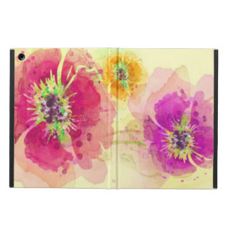 Painted watercolor poppies 2 case for iPad air