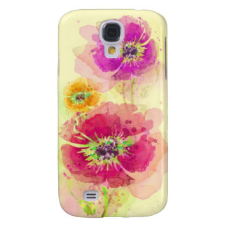 Painted watercolor poppies 2 galaxy s4 case