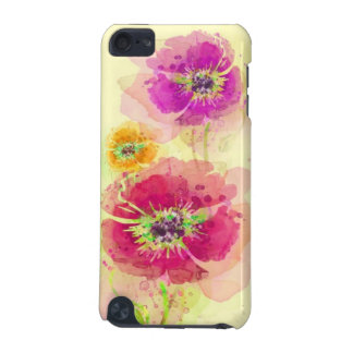 Painted watercolor poppies 2 iPod touch 5G covers