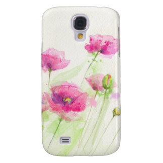 Painted watercolor poppies 3 galaxy s4 case