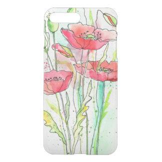 Painted watercolor poppies iPhone 8 plus/7 plus case