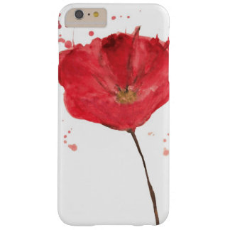 Painted watercolor poppy flower 2 barely there iPhone 6 plus case