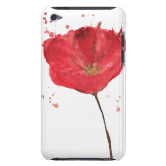 Painted watercolor poppy flower 2 barely there iPod cases