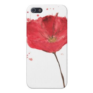 Painted watercolor poppy flower 2 iPhone 5 cover