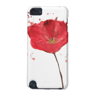 Painted watercolor poppy flower 2 iPod touch 5G cover