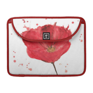 Painted watercolor poppy flower 2 sleeve for MacBook pro