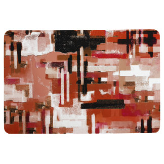 Painted Weave - Red Floor Mat