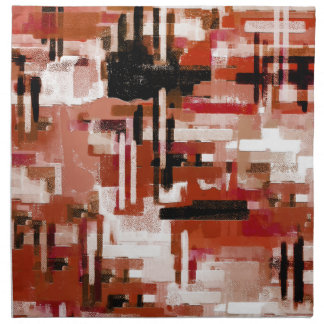 Painted Weave - Red Napkin