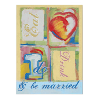 Painted Wedding Invitaion 17 Cm X 22 Cm Invitation Card