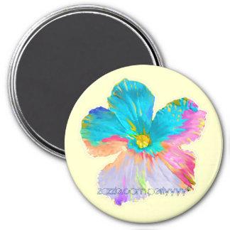Painted Wildflower #2 7.5 Cm Round Magnet