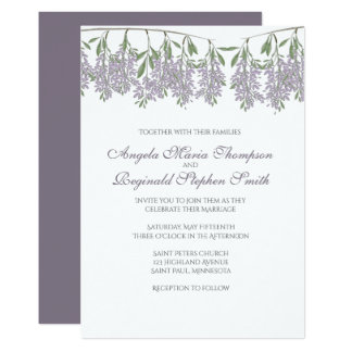 Painted Wisteria Wedding Invitation
