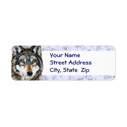 Painted Wolf Address Labels