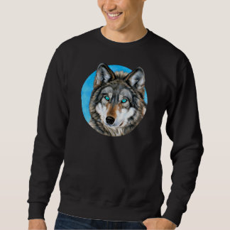 Painted Wolf (Blue Eyes) Sweatshirt