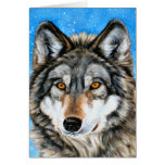Painted Wolf Christmas Cards