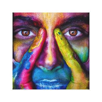 Painted Woman Canvas Print