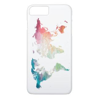 Painted World Map iPhone 8 Plus/7 Plus Case
