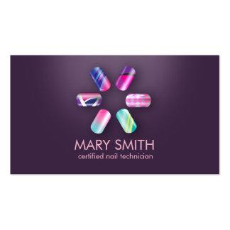 PaintedNail Tech / Nail Art Business Card Template