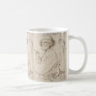 Painter and Connoisseur by Pieter Bruegel Basic White Mug