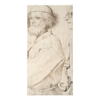 Painter and Connoisseur by Pieter Bruegel Customized Photo Card
