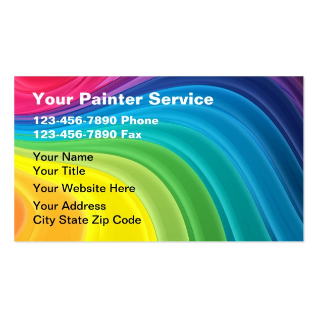Painter business cards for Painter business card template