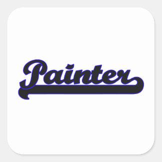 Painter Classic Job Design Square Sticker
