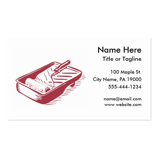 Create your own painter business cards page3 painter handyman business card template fbccfo Choice Image