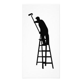 Painter ladder custom photo card