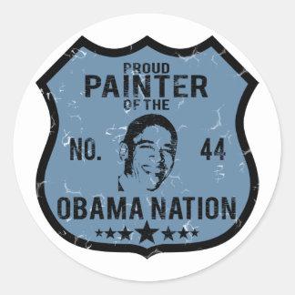 Painter Obama Nation Round Sticker
