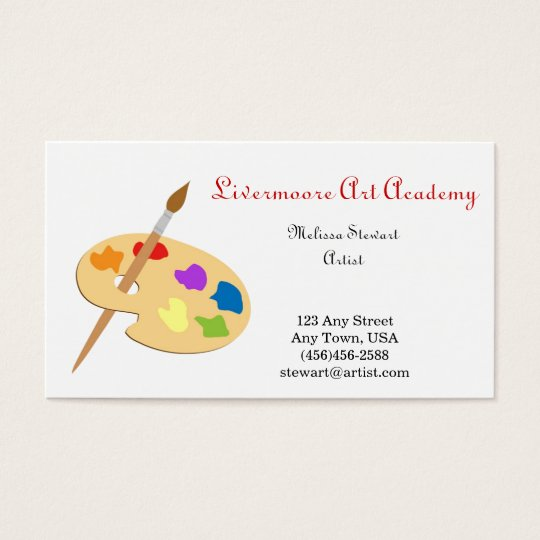 Painter or Artist Paint Brush Business Cards