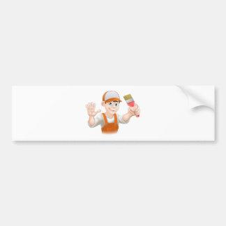 Painter or decorator man bumper sticker