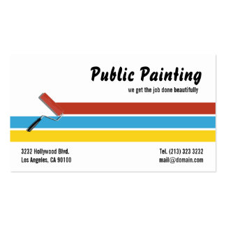 Painter Paint Roller Pack Of Standard Business Cards