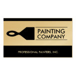 Painter Painting Contractor Paint Brush Gold Paper Business Card