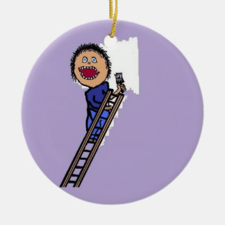 Painter Painting Wall Christmas Ornament
