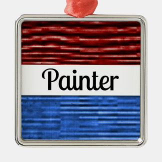 Painter Patriotic Christmas Ornament