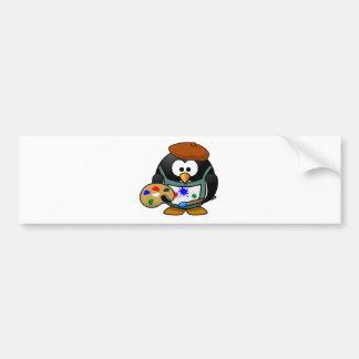 Painter Penguin Bumper Stickers