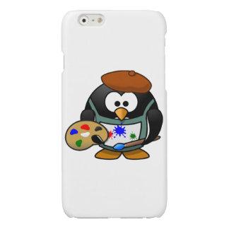 Painter penguin cartoon glossy iPhone 6 case