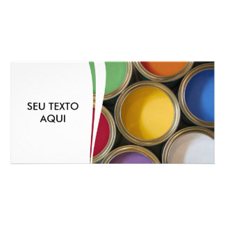 PAINTER REFORMS TEXTURES PHOTO CARD TEMPLATE