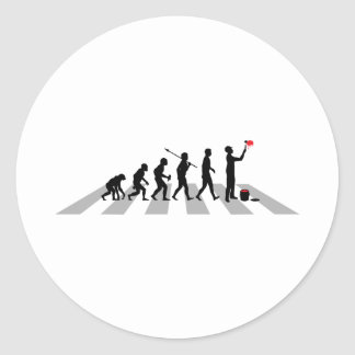 Painter Round Sticker