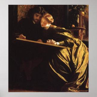 Painter s Honeymoon by Leighton Victorian Art Print