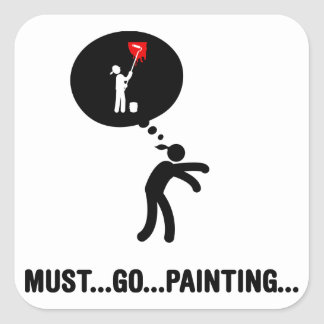 Painter Square Sticker