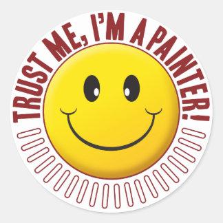 Painter Trust Smiley Round Sticker