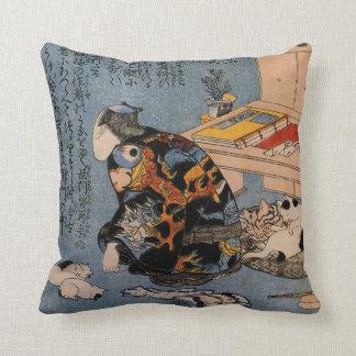 Painter who likes Cats, Utagawa Kuniyoshi Cushion