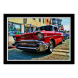 Painterly 1957 Chevy Print