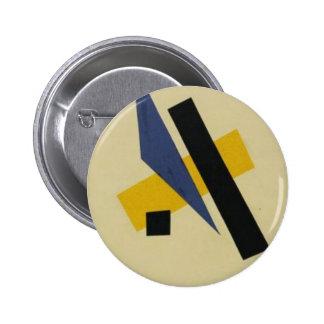 Painterly Architectonic by Lyubov Popova 6 Cm Round Badge
