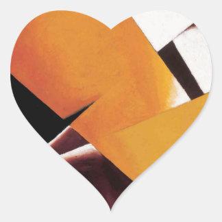 Painterly Architectonic by Lyubov Popova Heart Sticker