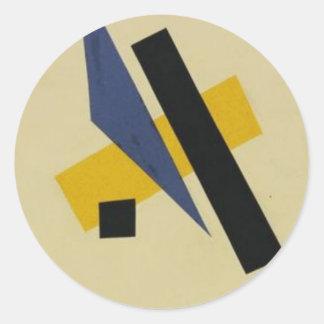 Painterly Architectonic by Lyubov Popova Round Sticker