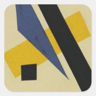 Painterly Architectonic by Lyubov Popova Square Sticker